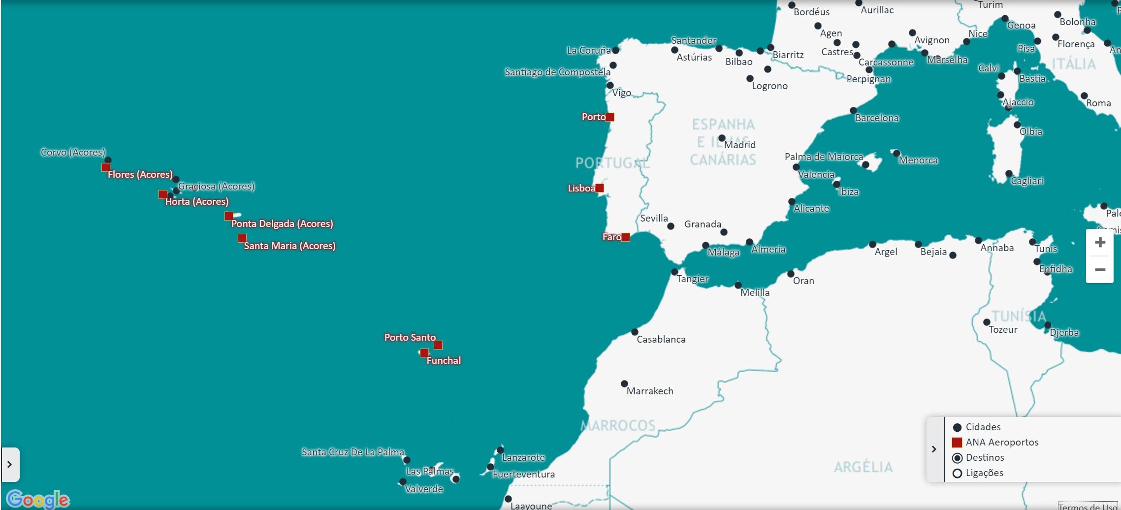 mapa aeroportos portugal Geografia 11.º Ano – Rede Nacional de Aeroportos – Apontamentos Na Net mapa aeroportos portugal